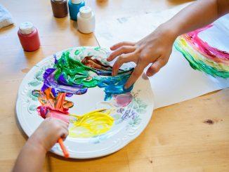 Pintura dactilar para chicos